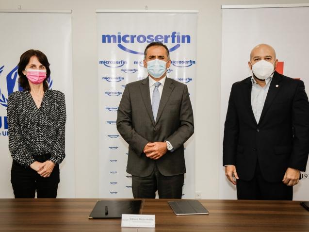 Microserfin, ACNUR y Cruz Roja renuevan acuerdo de cooperación para impulsar la inclusión financiera de los refugiados en Panamá