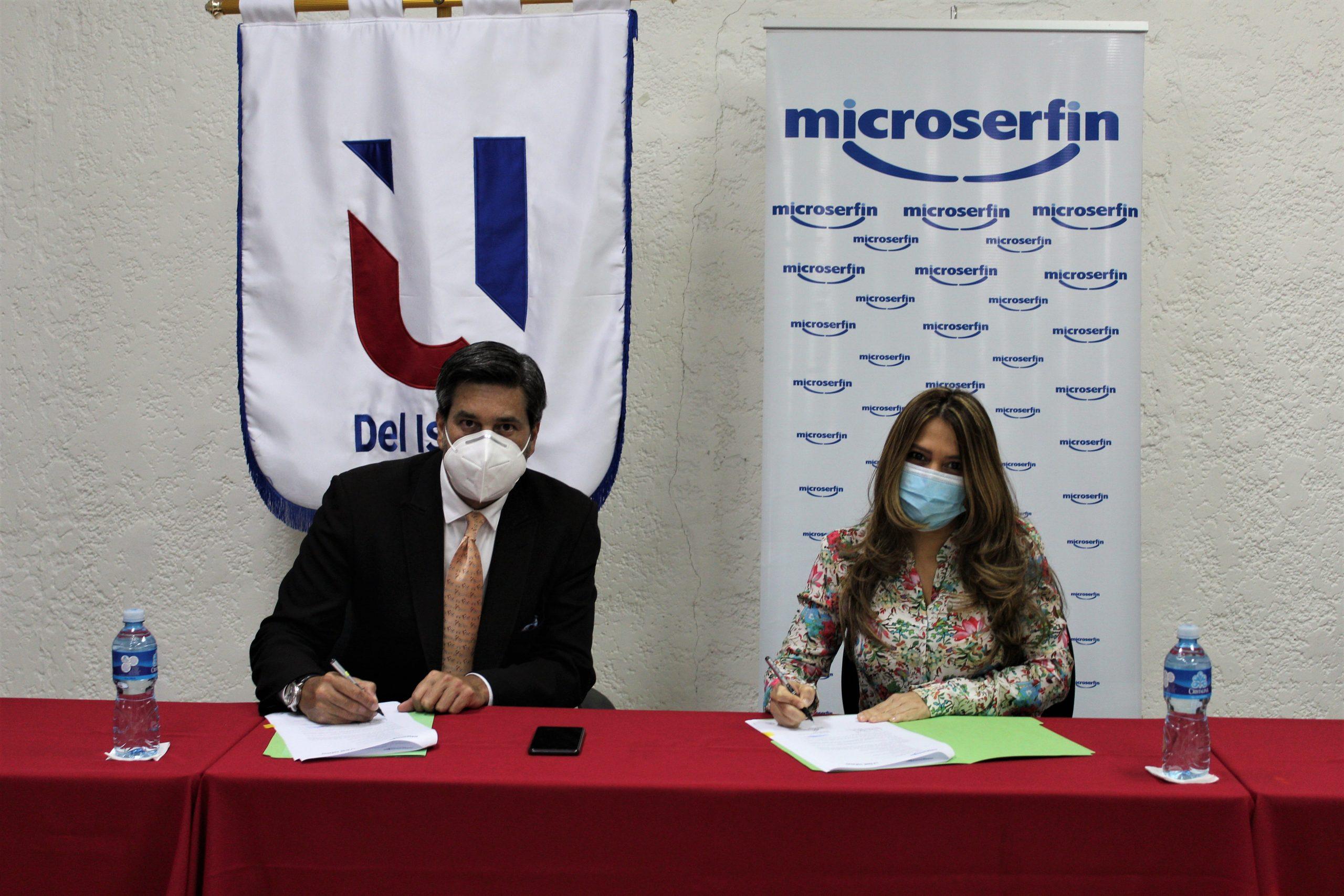Microserfin y la Universidad del Istmo suscriben convenio para fomentar el desarrollo profesional y el intercambio de experiencias